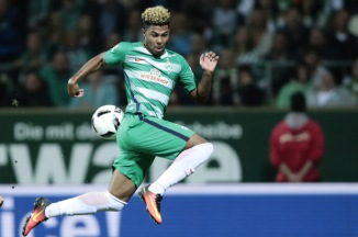 BREMEN, GERMANY - SEPTEMBER 21: Serge Gnabry of Bremen in action during the Bundesliga match between Werder Bremen and 1. FSV Mainz 05 at Weserstadion on September 21, 2016 in Bremen, Germany. (Photo by Oliver Hardt/Bongarts/Getty Images)