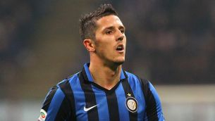 MILAN, ITALY - DECEMBER 20: Stevan Jovetic of FC Internazionale Milano looks on during the Serie A match between FC Internazionale Milano and SS Lazio at Stadio Giuseppe Meazza on December 20, 2015 in Milan, Italy. (Photo by Marco Luzzani/Getty Images)